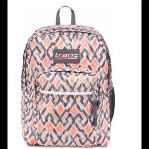 """Trans By JanSport 17"""" SuperMax Backpack Gray/Coral"""